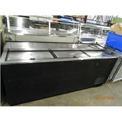 True 3 Slide Top Refrigerated Bottle Box - Tested at 38 deg.