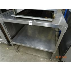 S/S 2' x 3' Rolling Equipment Stand