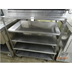 S/S 5-Shelf Cart