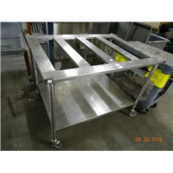 S/S Rolling Cut Board Table (Needs Top)
