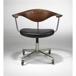 Hans Wegner Swivel Desk Chair