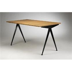 jean prouve compass dining table. Black Bedroom Furniture Sets. Home Design Ideas