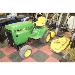 17hp John Deere 317 Lawn Tractor With Kastner Auctions