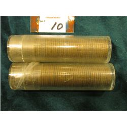 1946 S & 47 S Circulated Rolls of Lincoln Cents in plastic tubes. (2 rolls)