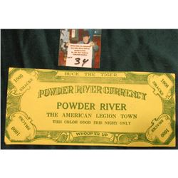 "1930 era Coca-Cola Advertising Scrip. ""Powder River Currency Powder River The American Legion Town T"