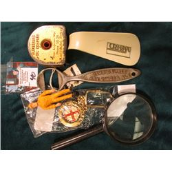 "Brass Key-ring ""Jerusalem""; ""John Graf Co."" ""Jamaica Pale Dry Ginger Ale"" Pop bottle opener; Plumber"