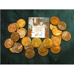 A group of high grade, but toned or tarnished Wheat Cents. (24 pcs.)