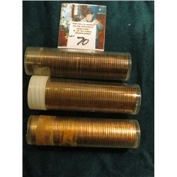 1955D, 56D, & 63 P either High grade or BU rolls of Lincoln Cents. Since I have not opened these tub