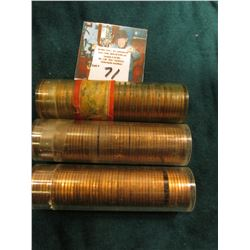 (2) 1954 S & 55 D Uncirculated Rolls of U.S. Lincoln Cents. Since I have not opened these tubes it i