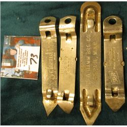 "Group of Advertising Beer Can/bottle Openers, includes: ""Schmidt/St. Paul, Minn."", ""The Brew that Gr"
