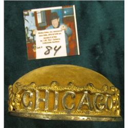 """Chicago Worlds Fair"" Pin Cushion. Gilt Metal lettering around edge."