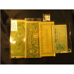 """1905-1906 """"Bank of the Universe…"""" Post Card; """"This Pocket Will Be Found Suitable For the Currency No"""