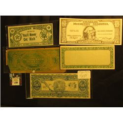 (5) Different Stage Money of Funny Money Banknotes.