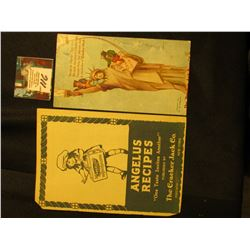"""""""Angelus Recipes """"One Taste Invites Another"""" Published by The Cracker Jack Co. Chicago New York"""" (19"""