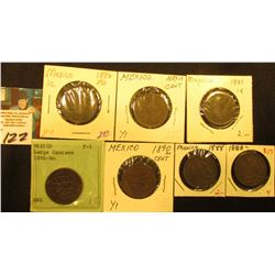 Mexico One Centavo Collection: 1886mo, 1887mo, 1887/7mo, 1888mo, 1889mo, 1890mo, & 1896mo. Grades up