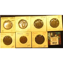 Mexico One Centavo Collection: 1878mo, 1881/71mo, 1889mo, 1890mo, 1891mo, 1892mo, & 1893mo. Grades u