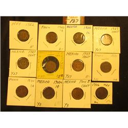 Mexico One Centavo Collection: 1903m, 04m, 05m, 06mo, 22mo,  23mo, 26mo, 28mo, 29mo, 30mo, 33mo, 34m