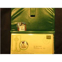 "St. Patrick's Day Commemorative Medal and Cachet ""The Destruction of the Pagan Idol Crom Cruaich by"