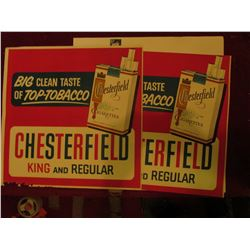 "(2) 20"" x 21"" ""Big Clean Taste of Top-Tobacco Chesterfield King and Regular"" Posters."