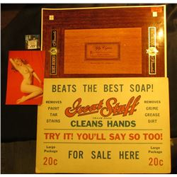 "10"" x 14"" Advertising Sign ""Beats the Best Soap! Great Stuff…For Sale Here Large Package 20c""; mint"