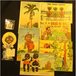 (8) Black Racial Ephemera. Post cards, Valentine Card, etc. 1950 era.