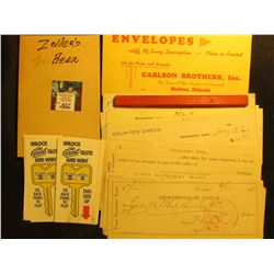 Group of Pepsi-Cola Game Cards; Zoller's Beer Invoice Book (all pages intact); Dysart Building Suppl