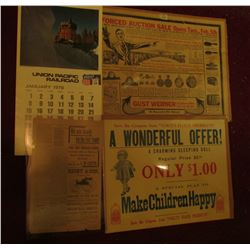 "17"" x 22"" heavy paper sign ""Save the Coupons from ""Voigt's Flour Products"" A Wonderful Offer! A Char"
