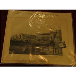 "11.5"" x 16"" Lithograph at the 1893 Columbian Exposition, D. Appleton & Co."
