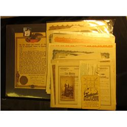 April 28th, 1919 Award for United States Military Service Certificate signed by the Mayor and City C