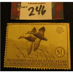 1940 RW7 Mint, not hinged Migratory Bird Hunting Stamp.