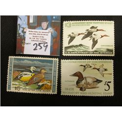1965 RW32 Mint Hinged, 1973 RW40 Mint Lightly Hinged, 1975 RW42 Mint Hinged, Migatory Duck Hunting S