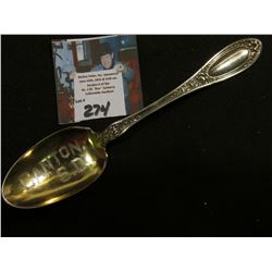"1835 R. Wallace. Pat. Feb. 23, 09 Engraved Souvenir Teaspoon ""Canton, S.D."""