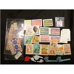Group of Cracker Jack toys, & etc.