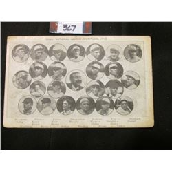 """Cubs, National League Champions, 1910"" Postcard. 'Doc' had this postcard valued at $400.00."