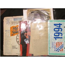 """1988 """"The Ultimate Event"""" Tourbook for Frank, Liza, & Sammy. All in color; Sharpless Genealogy for S"""