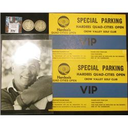 "(2) Original autographs ""Best Always Billy Casper"" & ""Best Wishes John Mahaffey; (2) VIP Parking Pas"