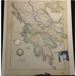"10"" x 13"" Map ""Graecia including Epirus and Thessalia with Part of Macedonia"", ready for framing; &"