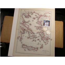 "9 7/8"" x 13"" Map of ""The Coasts and Islands of the Aegean Sea"" ready for framing; & 1902 P & 1903 O"