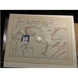 "10"" x 13"" ""Route of Xenophon and the Ten Thousand Greeks"" ready for framing; & 1902 O & 1903 P Barbe"