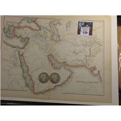 "9 7/8"" x 13.25"" Map of ""Empire of Alexander the Great with the Adjoining Regions"" ready for framing;"