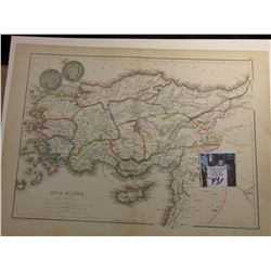 "9 7/8"" x 13.25"" Map of ""Asia Minor and the Northern Part of Syria"" ready for framing; & 1902 P & 190"