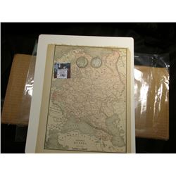 "8 5/8"" x 10 7/8"" Map of ""European Russia"" ready for framing; & 1904 O & 05 S Barber Half Dollars in"