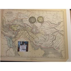 "9.25"" x 11.25"" Map ""Les Anciens Empires De L'Orient"" ready for framing; & 1904 P & 1906 O Barber Hal"
