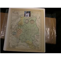 "9.25"" x 11.25"" Map ""Russie D'Europe et anciens Royaumes de Pologne"" ready for framing; & 1906 0 & 19"