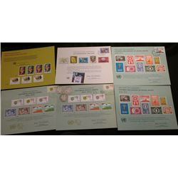 (5) 1970 era United Nations Souvenir Cards with stamps; & 1909 P, 11 S, & 12 S U.S. Barber Half Doll