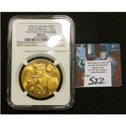 1933 A & P Carnival So-Called $ {HK-464} NGC MS65 #3753994-041