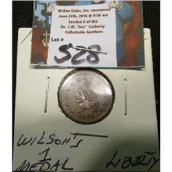 "1863 CWC ""Wilson's 1 Medal/Liberty"""