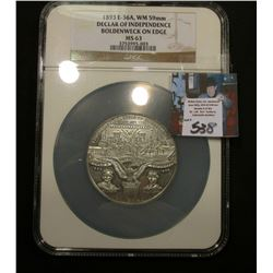 1893 Declaration of Independence {Same as HK-157 but in 59MM instead of 36MM} NGC63 Large Holder Ver