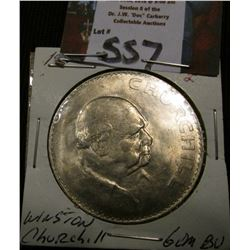 1965 Pound Great Britain Churchill Commemorative Gem BU