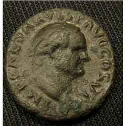 "69-79AD AE AS Emperor Vespasian Rome Part of the Original ""12 Emperors"" Very Scarce"